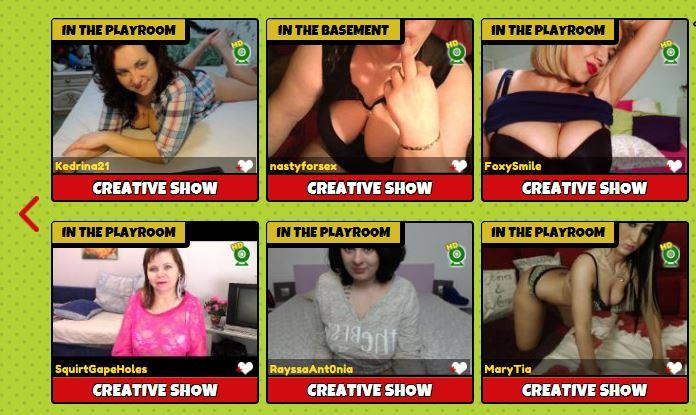 Hot and eager webcam models