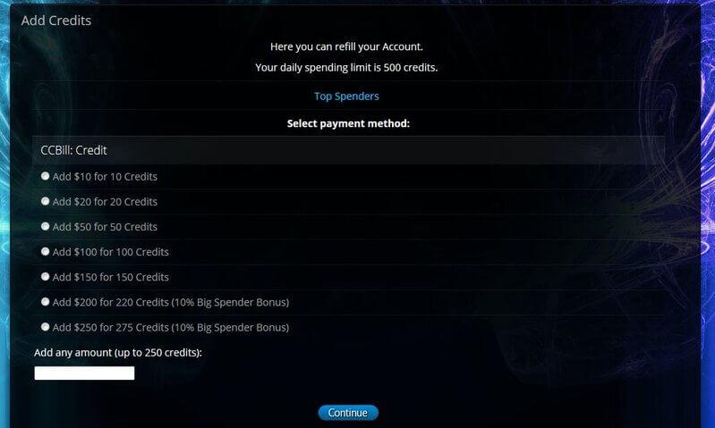 sexcam credits on CamWithHim.com
