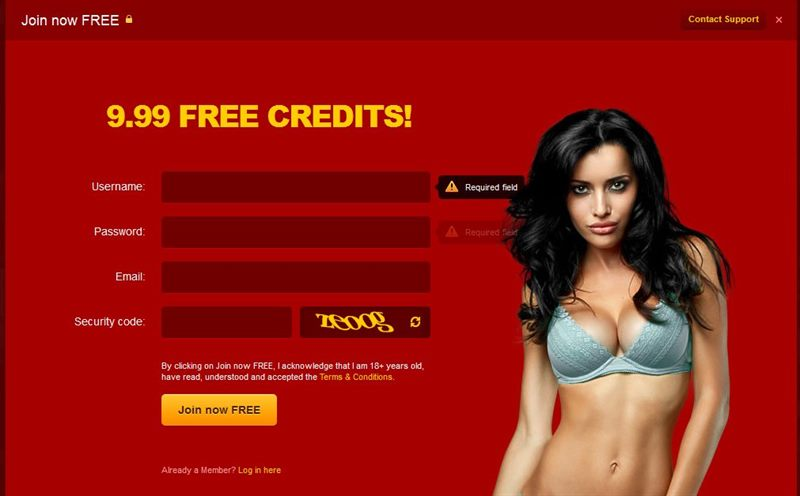 Get 10 free credits when signing up to Jasmin.com