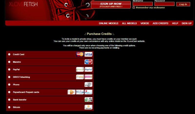 Secure payment methods on xlovefetish.com