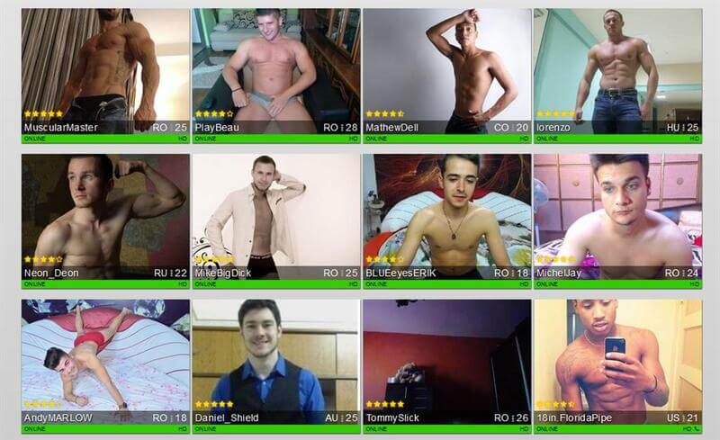 Choose a gay sex cam partner