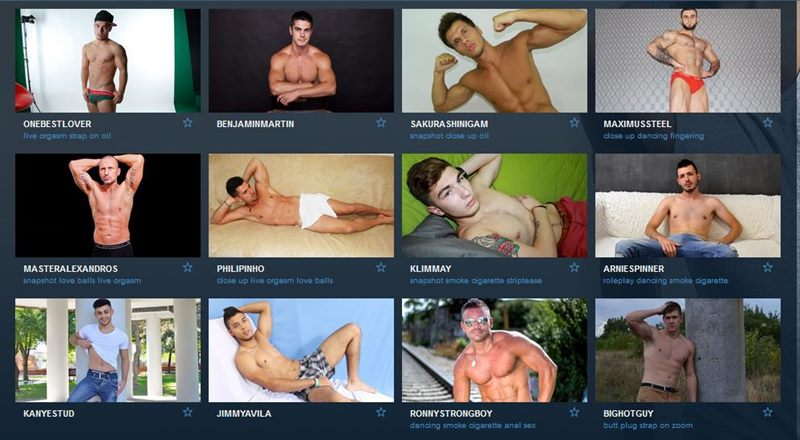 Muscular hunks on gay sex cams