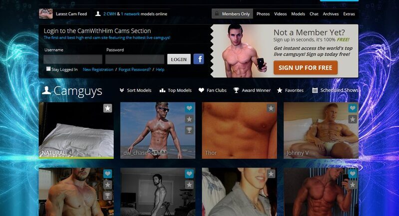 The handsome guys on CamWithHim.com