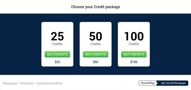 Credit packages available at ImLive.com