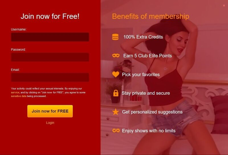 LiveJasmin has an easy signup form
