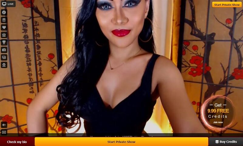 A sophisticated transgender babe models for the camera on LiveJasmin.com