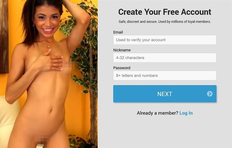 It's free, safe and quick to sign-up as a Streamate member
