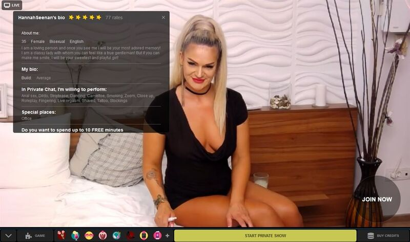Blonde cam girl shows off her sexy assets at LivePrivates.com