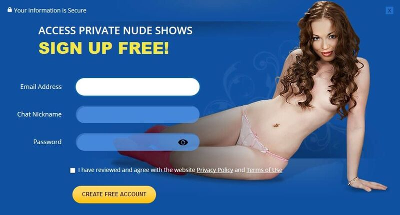 Easy  sign up process at Flirt4Free.com